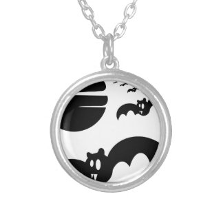 Bats #4 silver plated necklace