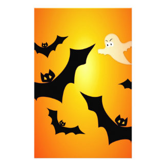 Bats and a Ghost Personalised Stationery