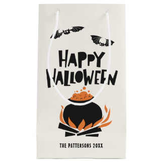 Bats and Cauldron Happy Halloween Gift Bag