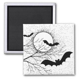 Bats And Full Moon Fridge Magnets