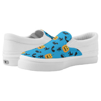 Bats Cats Witches Jack o Lanterns Slip-On Shoes