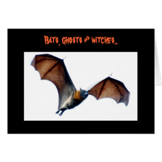 Bats, ghosts & witches.. card