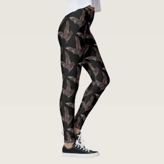 Bats in Flight Goth Print Leggings