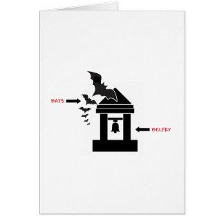Bats in the Belfry Card
