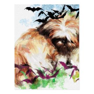 bats in the belfry postcard