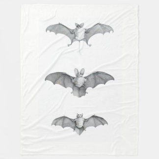 Bats of Egypt Fleece Blanket