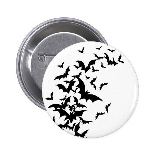Bats on White Pinback Button