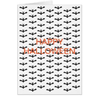 Bats Repeat Pattern Happy Halloween Card