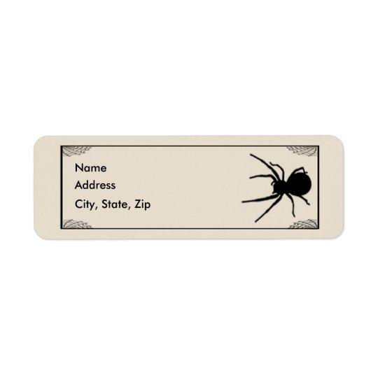 Bats & Spider Address Labels Template