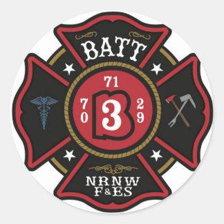 Batt.3 Helmet stickers