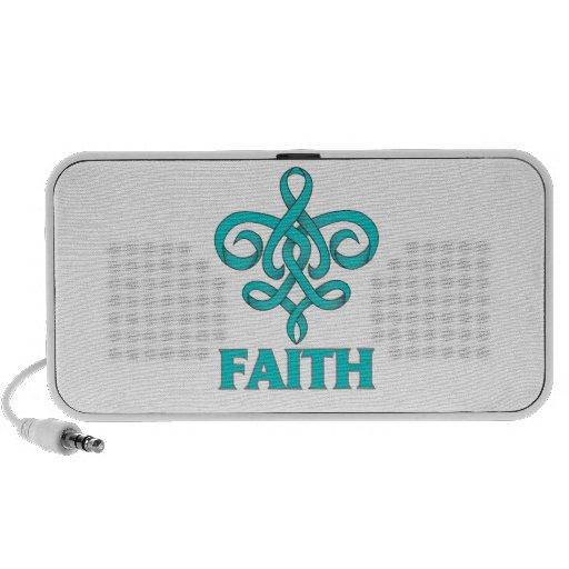 Batten Disease Faith Fleur de Lis Ribbon Portable Speakers