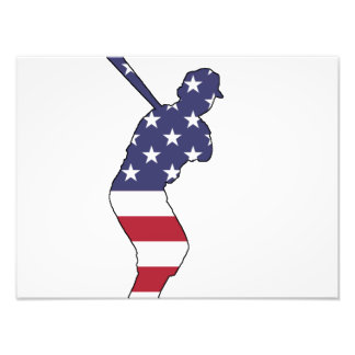 Batter - American Flag Photographic Print