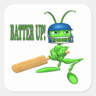 Batter Up 2 Square Sticker