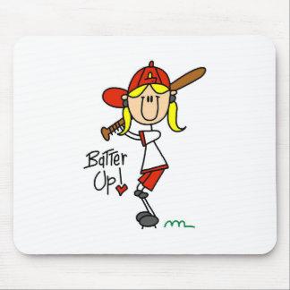 Batter Up! Softball Stick Figure Mousepad