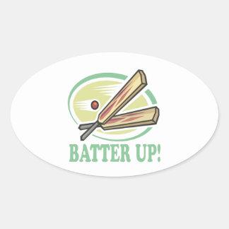 Batter Up Oval Sticker