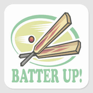 Batter Up Square Sticker