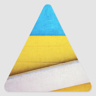 Battered Building-Minimal Abstract by STaylor Triangle Sticker