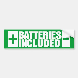 Batteries Included hybrid car Bumper Sticker