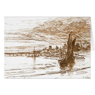 Battersea Bridge 1868 Greeting Card