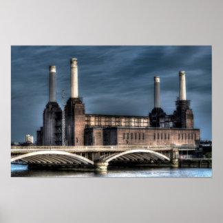 Battersea London Landscape Poster