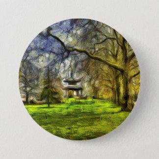 Battersea Park Pagoda Art 7.5 Cm Round Badge