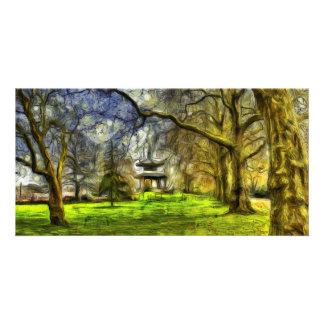 Battersea Park Pagoda Art Card
