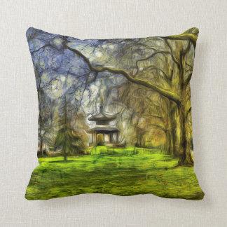 Battersea Park Pagoda Art Cushion