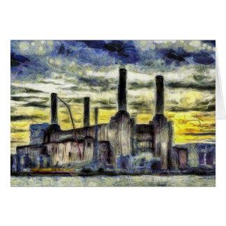 Battersea Power Station London Art Card