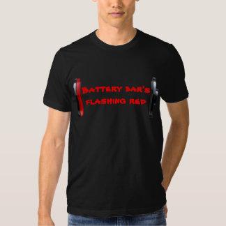 Battery bars flashing red tshirt