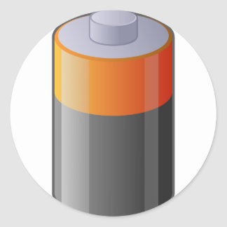Battery Classic Round Sticker