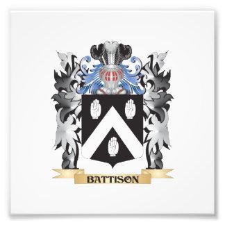 Battison Coat of Arms - Family Crest Photographic Print