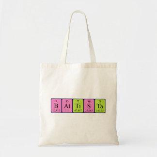 Battista periodic table name tote bag