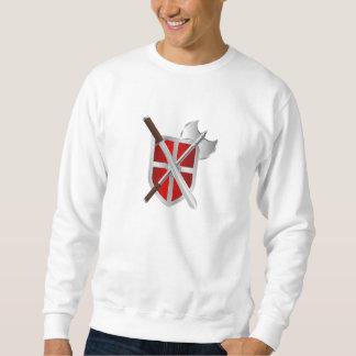 Battle Axe Sword and Shield Sweatshirt