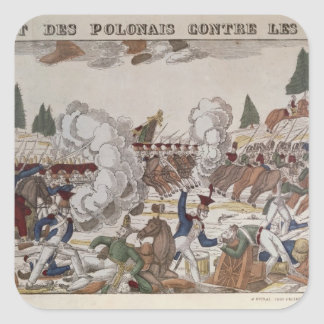 Battle between Polish and Russian Troops, 1831 Square Stickers