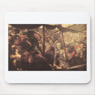 Battle between Turks and Christians by Tintoretto Mouse Pad