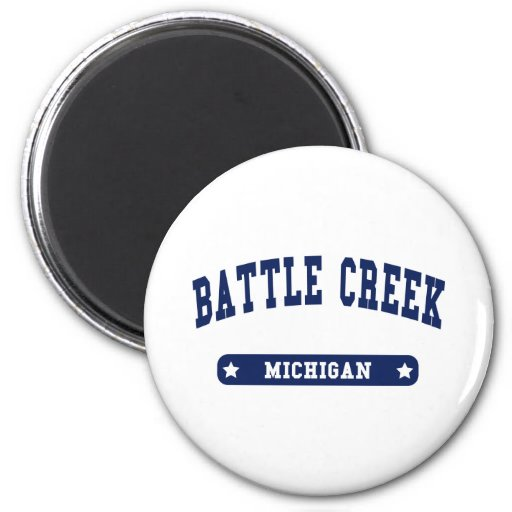 Battle Creek Michigan College Style t shirts Magnet