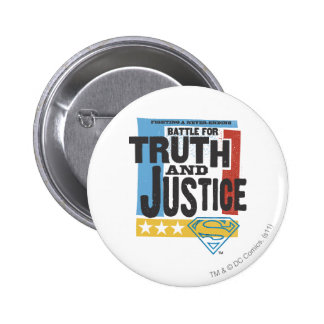 Battle for Truth & Justice 6 Cm Round Badge