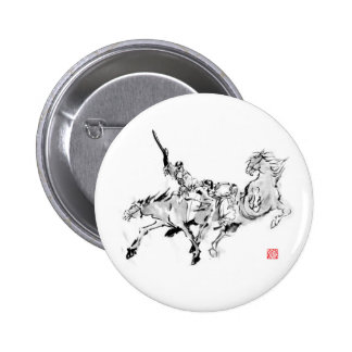 Battle & horse - Tales of ancient Japan 6 Cm Round Badge