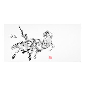 Battle & horse -Tales of ancient Japan Photo Card