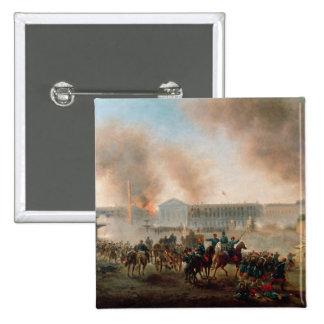 Battle in the Place de la Concorde 1871 Button