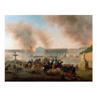 Battle in the Place de la Concorde, 1871 Postcard