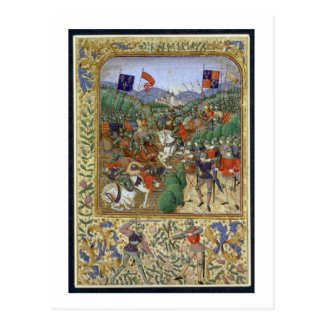 Battle of Agincourt, October 25th 1415 (w/c on pap Postcard