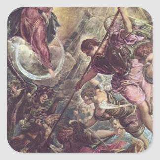 Battle of Archangel Michael, Satan by Tintoretto Stickers