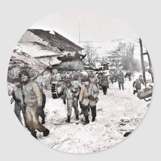 Battle of Bulge Troop Recon Classic Round Sticker