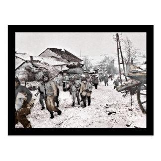 Battle of Bulge Troop Recon Postcard