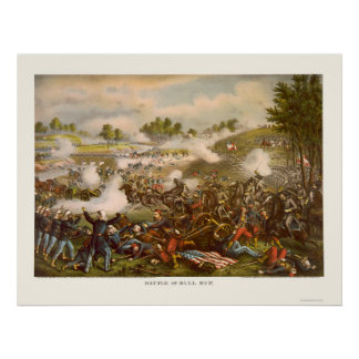 Battle of Bull Run by Kurz and Allison 1889 Poster