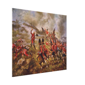 Battle of Bunker Hill by Edward Percy Moran Stretched Canvas Print