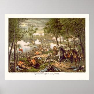 Battle of Chancellorsville by Kurz & Allison 1863 Poster
