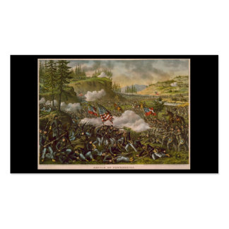 Battle of Chickamauga, published circa 1890 Business Card Template