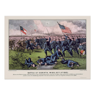 Battle of Corinth by  1862 Poster